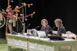 """Manlio Covello durante la ponencia """"Energias sostenibles y lucha al cambio climatico en america latina: desafios y oportunidades"""" del SOCC 2017"""
